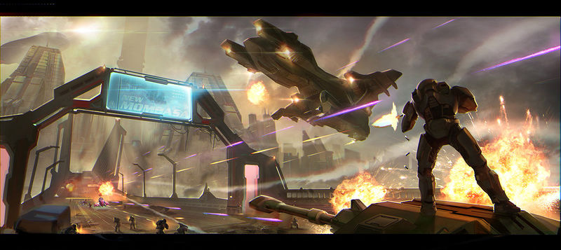 Fichier:H2A-Metropolis opening scene of the level (Pavel Belov).jpg